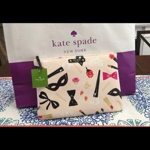 Kate Spade Gia Hop To It Stealscene makeup bag NWT